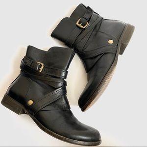 Miz Mooz Bailey Black Leather Moto Boots